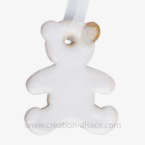 Ourson blanc céramique