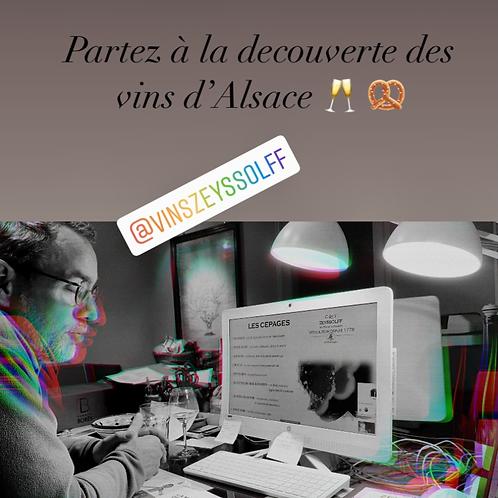 """Coffret 3 bouteilles avec visite virtuelle """"A la découverte des vins d'Alsace"""""""