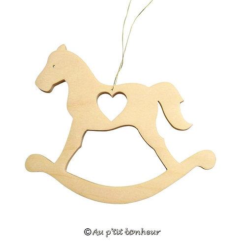 suspension bois cheval à bascule