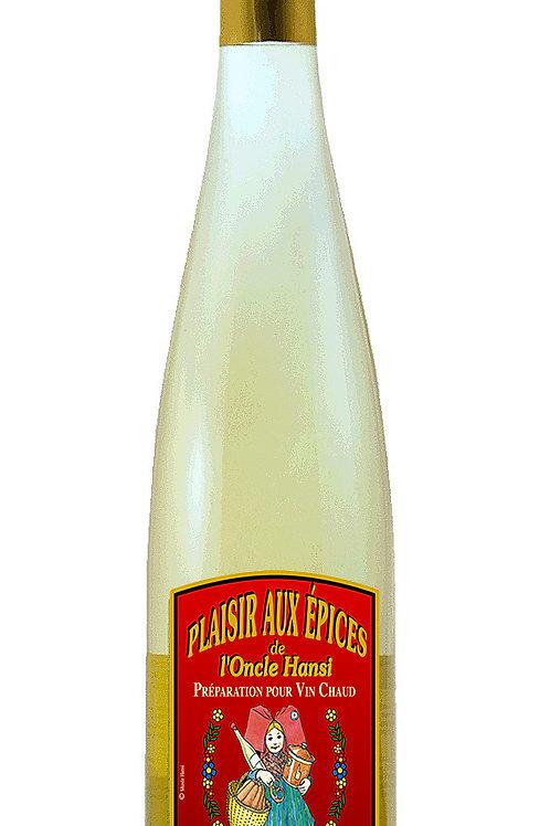 """Plaisir aux épices """"blanc"""" (vin chaud blanc) 75cl"""