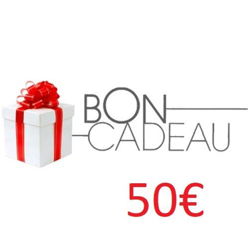 Bon cadeaux de 50€