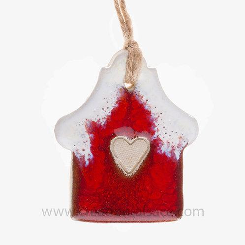 Maison rouge céramique