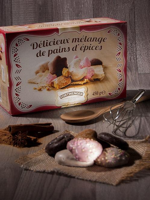 MÉLANGE DE PAINS D'ÉPICES ENROBE DE SUCRE-CHOCOLAT 450G
