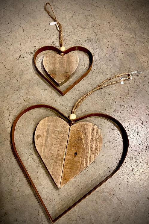 Cœur bois : vendu à l'unité 10cm ou 25cm