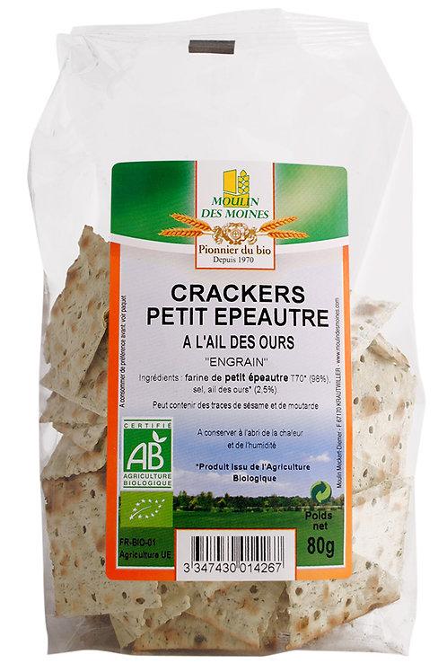 Crackers petit épeautre - ail des ours BIO 80g