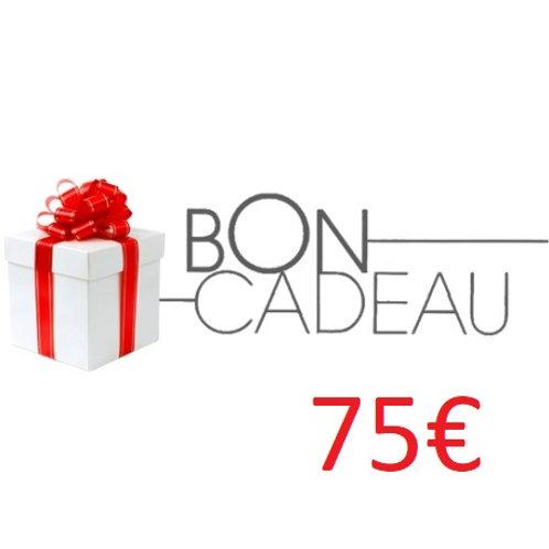 Bon cadeaux de 75€