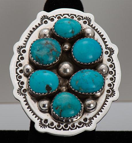 Kenneth Jones, Turquoise Ring, 9.5