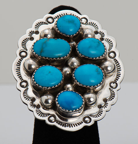 Kenneth Jones, Turquoise Ring, 8.5