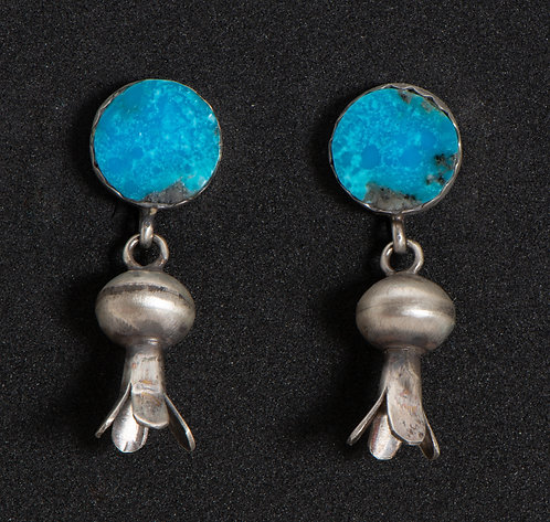 Selina Warner Native American Sterling Silver and Turquoise Earrings