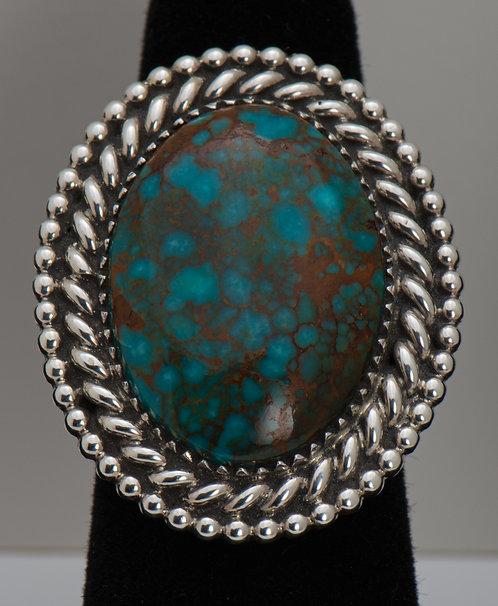 Clifford Lewis, Kingman Turquoise Ring, 8.5