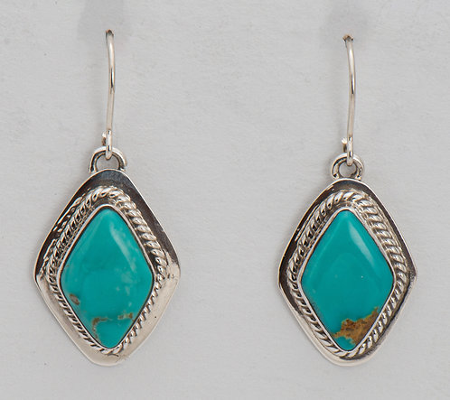 Native American Sterling Silver Turquoise MT Earrings
