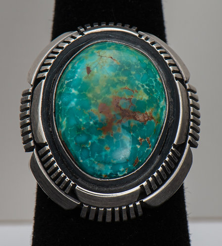 Fred Peters, Turquoise Ring, 9.5