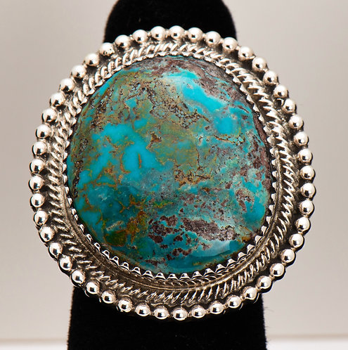 Clifford Lewis, Turquoise Ring, 7.5