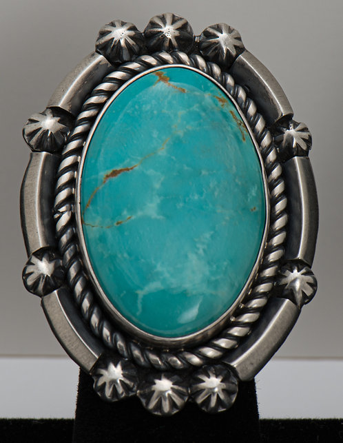 Jeffrey James Jr, Turquoise Ring, 8.5
