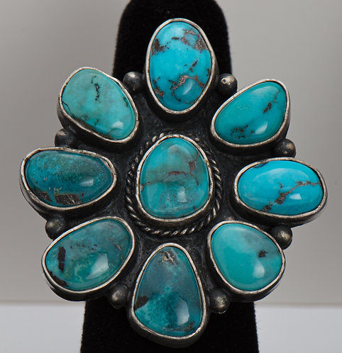 Red Mountain Turquoise Ring, 8.5