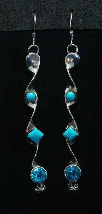 Native American Sleeping Beauty Turquoise Earrings