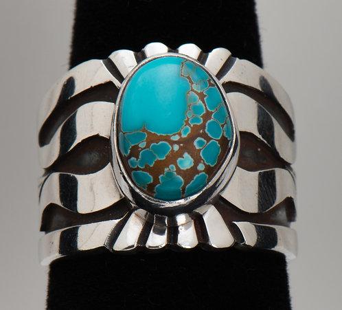 Leonard Nez,Turquoise Ring, 7.25