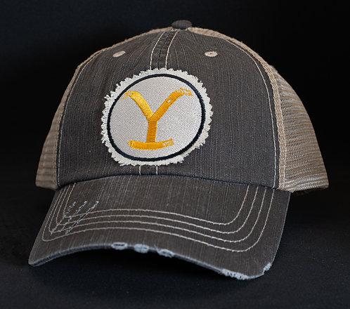 Yellowstone Brand Mesh Snapback Cap