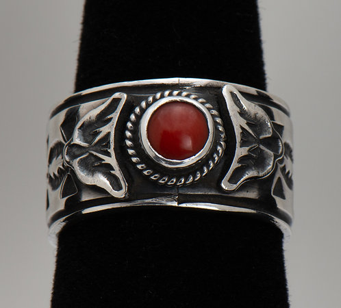Bo Reeves, Red Coral Ring, 7.5