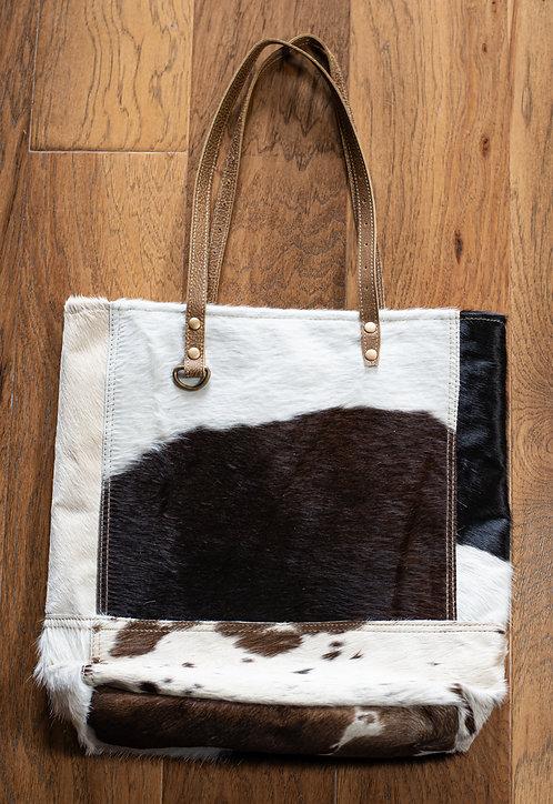 Black & White Impressions Cowhide Bag