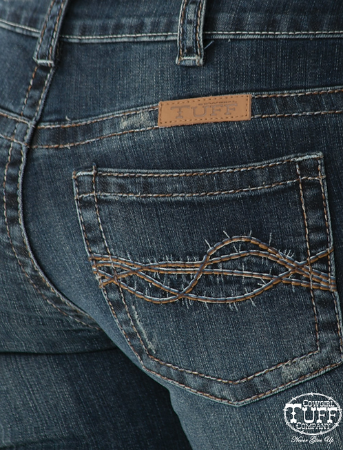 Don't Fence Me in Dark Wash Bootcut Jeans