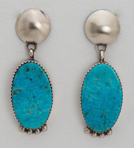 Selina Warner Native American Sterling Silver Turquoise Earrings