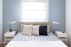 צבע, טקסטיל עדין ורוגע בחדר שינה