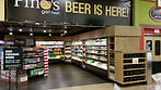 beer section in grocery store