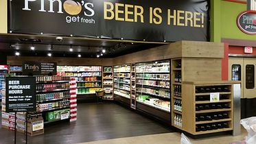 Pino's Get Fresh Beer section