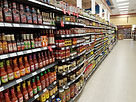 grocery shopping - aisle of food