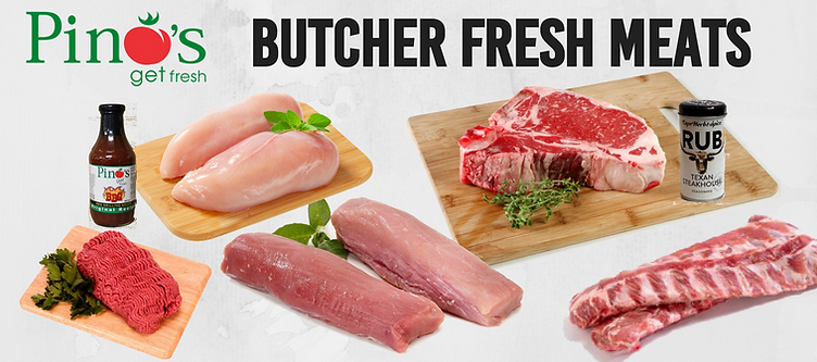 Pino's Butcher Fresh Meat & BBQ sauce