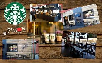 collage of pictures of Stabucks inside Pino's