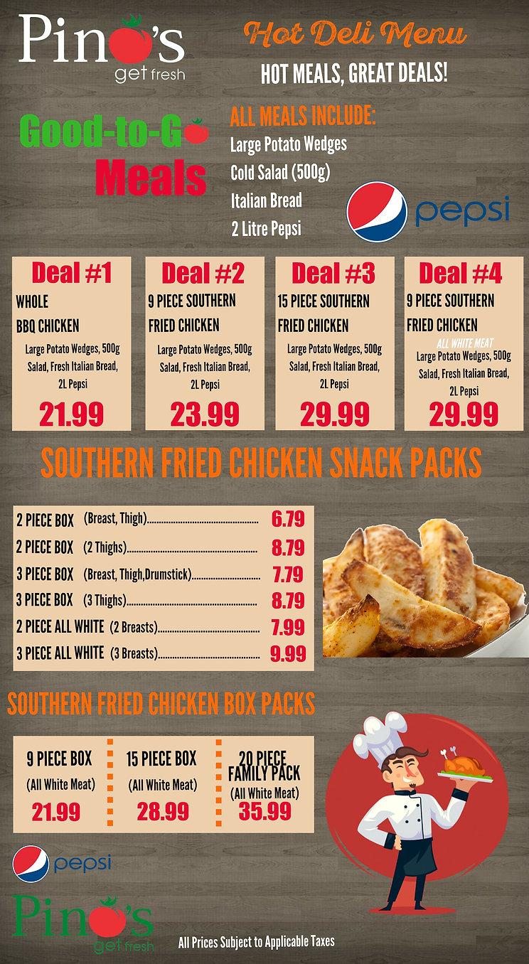 Pino's Deli Chicken Meal Deals