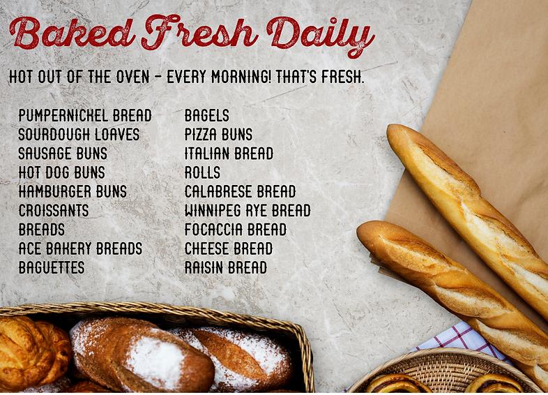 Pino's Bread Baked Fresh Daily