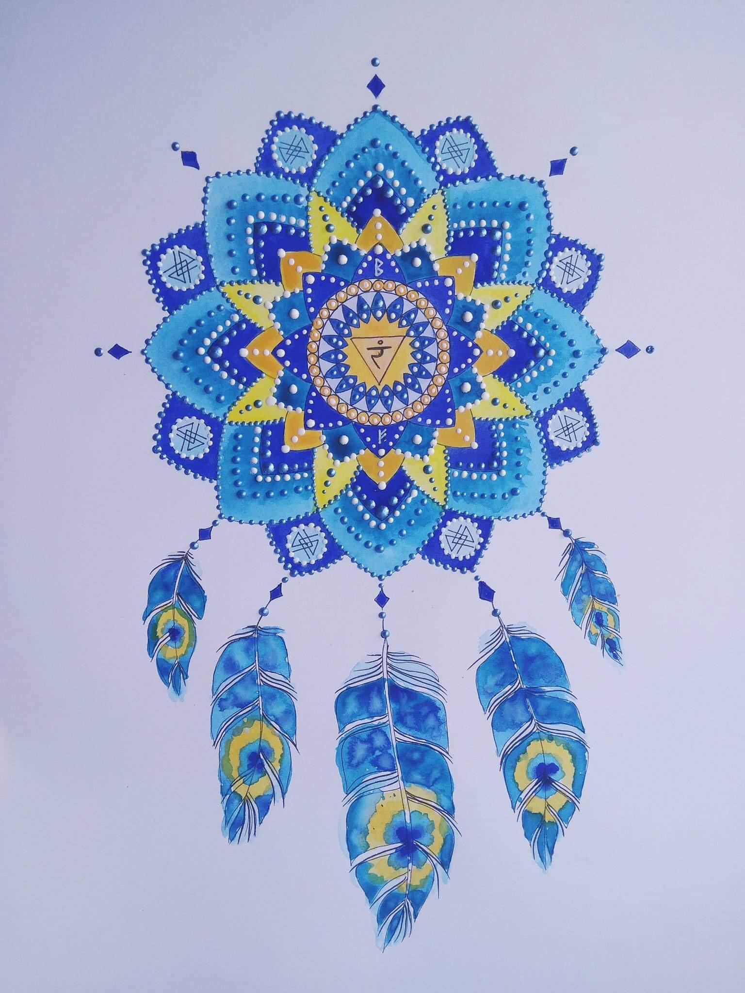 мандала голубая