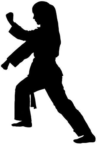 CTK Aimee forward stance black silhouett