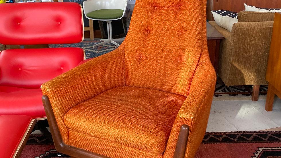 1960s Walnut Armchair by Rowe