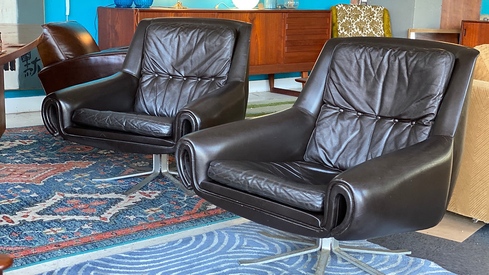Leather chairs by Esa Produkt (2)