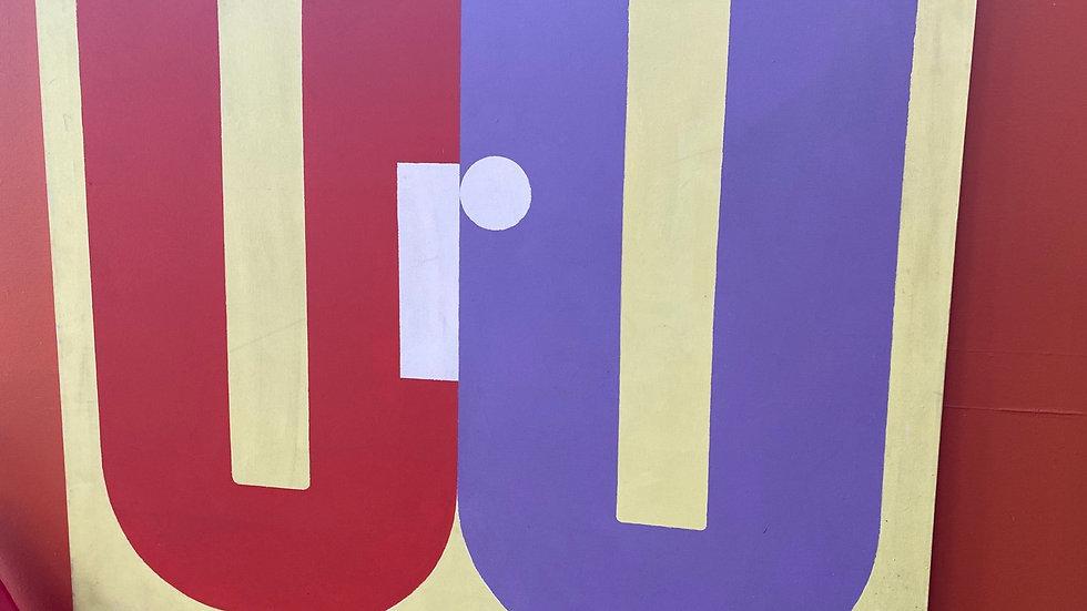 URU by Edward Carini, 1960s 43x36
