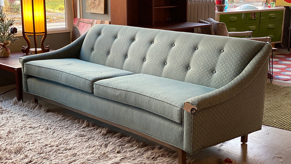Concave 1960s Plush Sofa