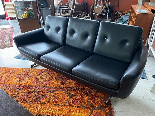 1960/70s Overman Vinyl Sofa
