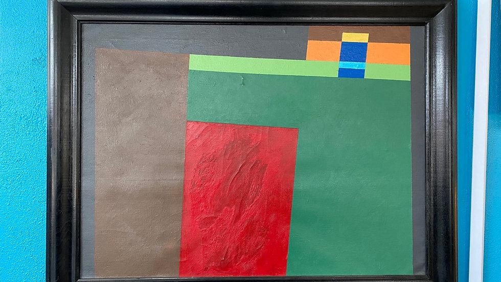 Mid Century Geometric Painting, Unknown