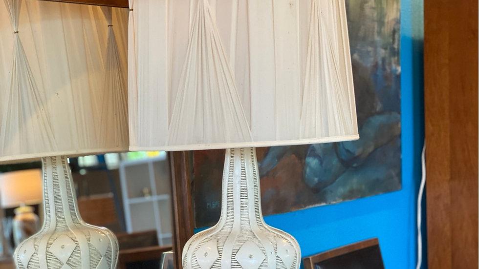 1950s Ceramic lamp with original shade