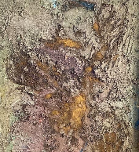 Midcentury Textured Medium on Canvas