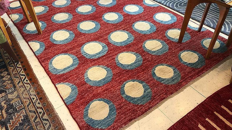 Handmade Ziegler Peshawar Wool Rug - 5x7
