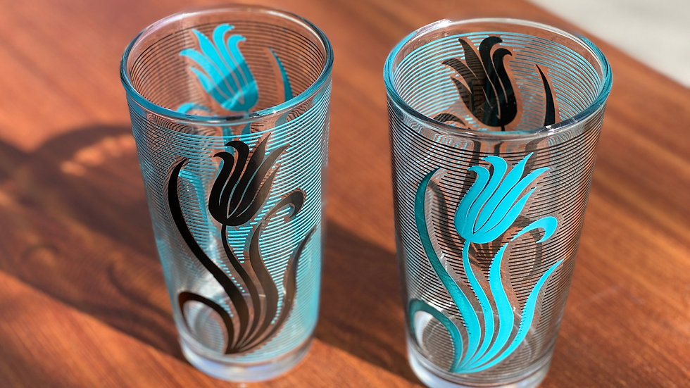 1970s Tulip Water Glasses (2)