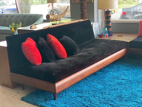 Plush 60's Sectional with Corner Table