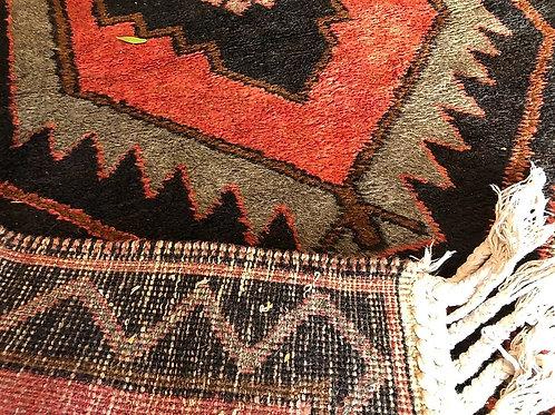 Vintage Handmade Iranian Wool Runner- 4x15