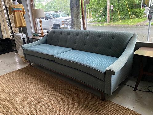 Concave 1960s Plush Sofa