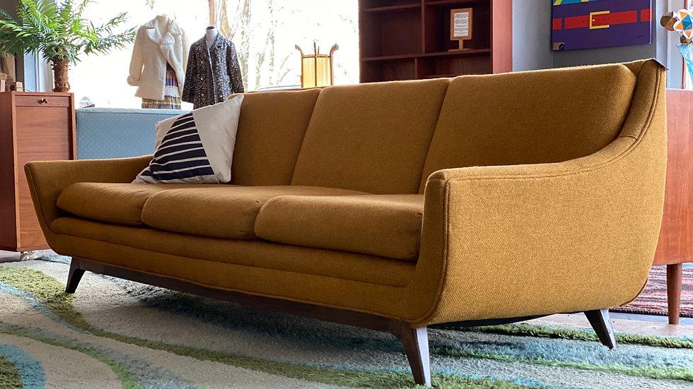 1960s Sculpted Danish Sofa by International